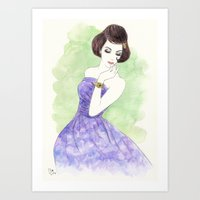 'Nadia' Watercolor Fashi… Art Print