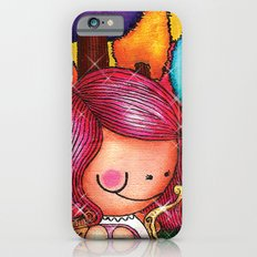 Love Angel - Fun, sweet, unique, creative and very colorful, original, acrylic children illustration Slim Case iPhone 6s