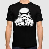 Dark Side Knuckle Mens Fitted Tee Black SMALL