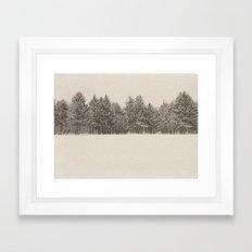 snowfall Framed Art Print