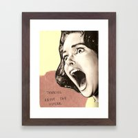 Thinking About The Futur… Framed Art Print