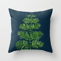Dawn Redwood Throw Pillow