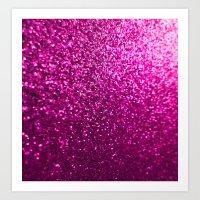 Pink Sparkle Glitter Art Print