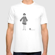 Knitting, gone awry. White SMALL Mens Fitted Tee