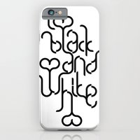 iPhone & iPod Case featuring I love black and white by Paulo Bruno
