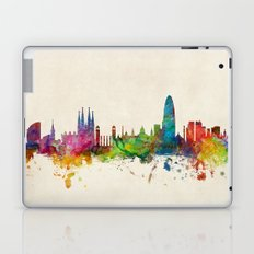 Barcelona Spain Skyline Cityscape Laptop & iPad Skin