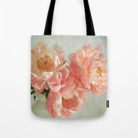 Still Life With Peonies Tote Bag