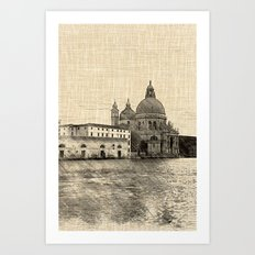 The Salute and the Grand Canal, Venice Art Print