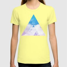 Sky Prism Womens Fitted Tee Lemon SMALL