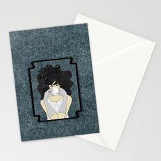 High Tea Black Hair Stationery Cards