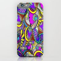 iPhone Cases featuring crazy zentangle by haroulita