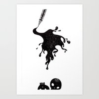 Inkblot Art Print