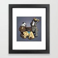 Three Angry Bears Framed Art Print