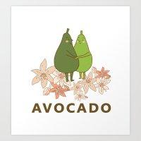 Avocado Love Art Print