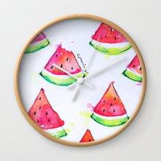 Watermelon Watercolor Print  Wall Clock