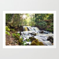 Upper Chapel Falls At Pi… Art Print