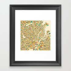 COPENHAGEN Map Framed Art Print