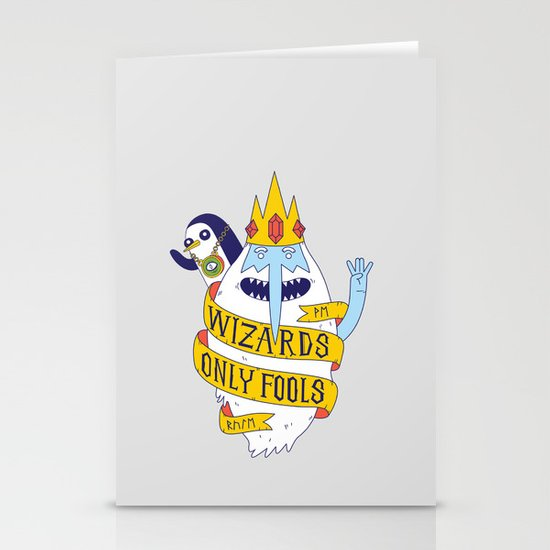 Wizards Only Fools Stationery Card