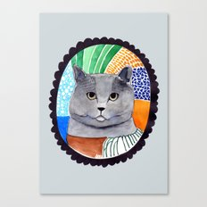KITTY / GREY Canvas Print