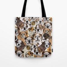 Social English Bulldog Tote Bag