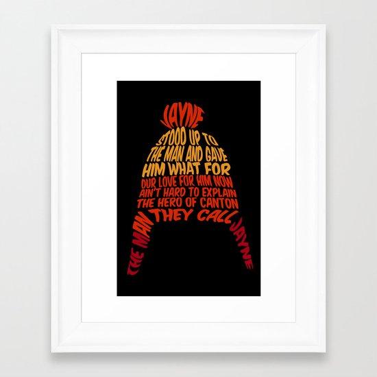 Jayne Hat Framed Art Print