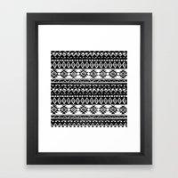 TRIBAL MONOCHROME Framed Art Print