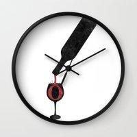 Wine-O (white) Wall Clock