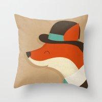 City Fox Throw Pillow