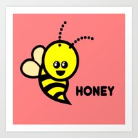 Honey Art Print
