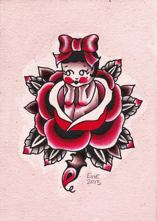 Kewp Rose Art Print