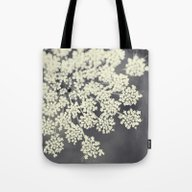 Tote Bag featuring Black And White Queen An… by Erin Johnson