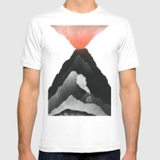 Man & Nature - The Vulcano Mens Fitted Tee White SMALL