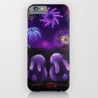 Chubby bunnies watch fireworks iPhone 6 Slim Case