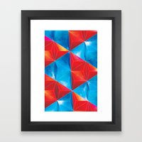Space Triangles Framed Art Print
