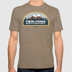 Twin Peaks Sheriff Depar… Mens Fitted Tee Tri-Coffee SMALL