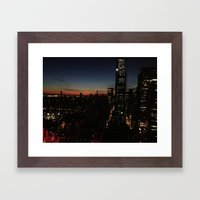 NY sight Framed Art Print