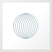 #352 Orbital – Geometr… Art Print