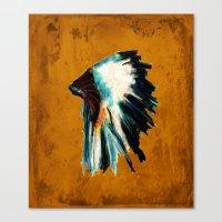 Native Headdress Canvas Print