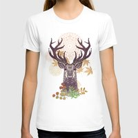 THE FRIENDLY STAG Womens Fitted Tee White SMALL