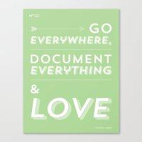 travel. write. love. Canvas Print