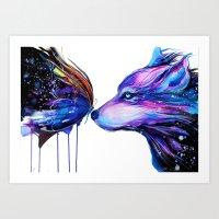 -Two Galaxies- Art Print