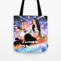 Cosmic Pizza Tote Bag