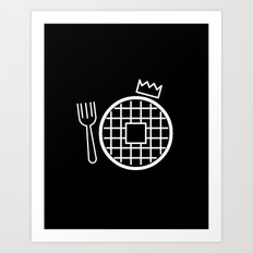 waffle king Art Print