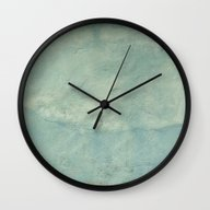 Wall Clock featuring Blue Plaster by Aeolia