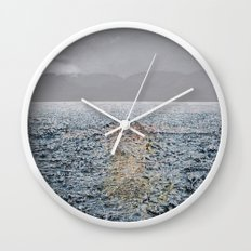 Swimming under the rain Wall Clock