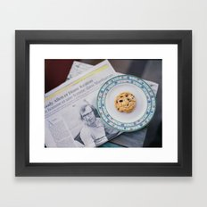 Woody and cookie Framed Art Print
