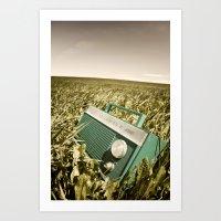 Radio In Field Art Print