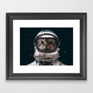 Space Catet Framed Art Print
