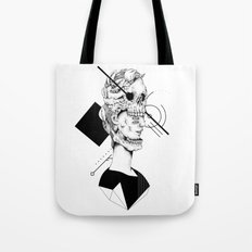 Skull and Woman 02 Tote Bag