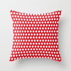 Red Points Throw Pillow
